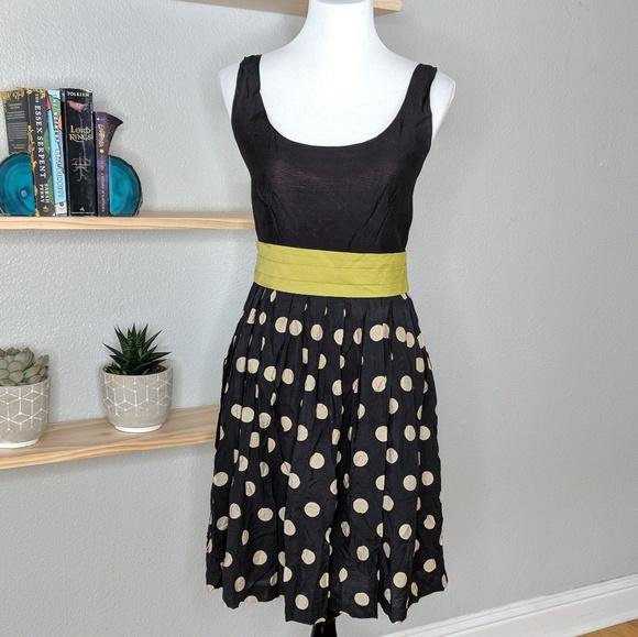 74f96de39135d Anthropologie Dresses & Skirts - Corey Lynn Calter slice of lime polka dot  dress